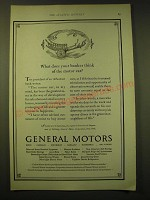 1924 General Motors Ad - What does your banker think