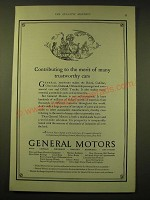 1924 General Motors Ad - Contributing to the merit of many trustworthy cars