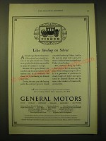 1924 General Motors Ad - Like sterling on silver