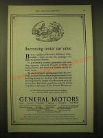 1924 General Motors Ad - Increasing motor car value