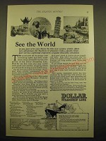 1924 Dollar Steamship Line Ad - See the world