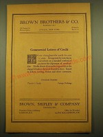 1924 Brown, Shipley & Company Ad - Commercial Letters of Credit