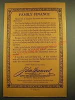 1924 John Hancock Life Insurance Ad - Family Finance