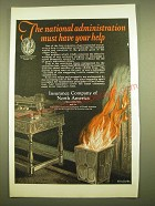 1924 Insurance Company of North America Ad - The national administration must