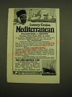 1924 Holland-America Line Cruise Ad - Luxury Cruise Mediterranean