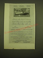 1924 United American Lines Hamburg American Line Ad - Those who have crossed