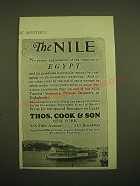 1924 Thos. Cook & Son Cruise Ad - The Nile