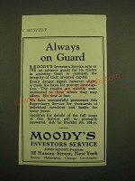 1924 Moody's Investors Service Ad - Always on Guard