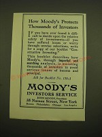 1924 Moody's Investors Service Ad - How Moody's protects thousands of investors