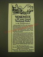 1924 Yosemite Transportation System Ad - Yosemite all year 'round National Park!