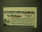 1924 Michigan Tourist & Resort Association Ad - The playground of a nation
