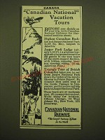 1924 Canadian National Railways Ad - Canadian National Vacation Tours