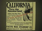 1924 Pacific Mail Steamship Co. Ad - California Thru the Panama Canal