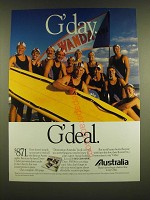 1990 Australia Tourism Ad - G'day. G'deal.