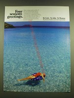1990 United States Virgin Islands Ad - Four seasons greetings