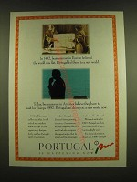 1990 Portugal Tourism Ad - In 1492, businessmen believed the world was flat