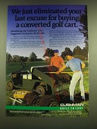 1990 Cushman GT-1 Utility Vehicle Ad - We just eliminated your last excuse