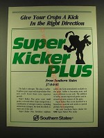 1990 Southern States Ad - Give your crops a kick in the right direction