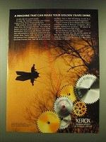 1990 Xerox Financial Services Ad - A machine that can make your golden years