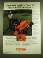 1990 Jacobsen Crew King Mowers Ad - This is a Walk in the Park