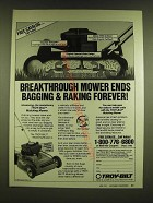 1990 Troy-bilt Mulching Mower Ad - Breakthrough mower ends bagging & raking
