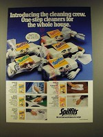 1990 Dow Brands Spiffits Ad - Introducing the cleaning crew. One-step cleaners