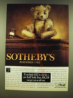 1990 Steiff Teddy Bear Ad - If you think $525 is a lot for a new Steiff