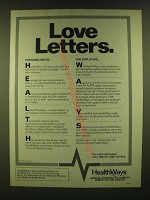1990 HealthWays Medical Coverage Ad - Love Letters
