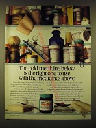 1990 Vicks VapoRub Ad - The cold medince below is the right one to use