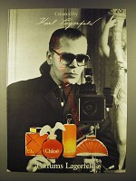 1990 Parfums Lagerfeld Ad - Created by Karl Lagerfeld
