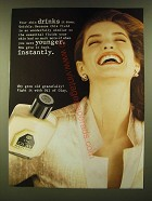 1990 Oil of Olay Beauty Fluid Ad - Your skin drinks it down
