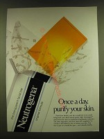 1990 Neutrogena Facial Bar Ad - Once a day purify your skin