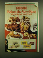 1990 Nestle Chocolate Ad - Nestle Bakes the very best and saves you money too!