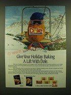 1990 Dole Almonds Ad - Give your holiday baking a lift with Dole