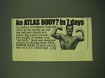 1978 Charles Atlas Ad - An Atlas body? In 7 days