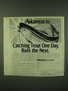 1978 Arkansas Department of Parks & Tourism Ad - Arkansas is: Catching trout