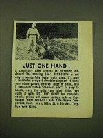 1973 Troy-Bilt Roto Tiller Ad - Just one hand!