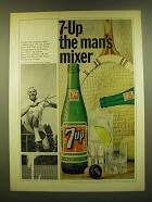 1966 7up Seven-up Soda Ad - 7-up the man's mixer