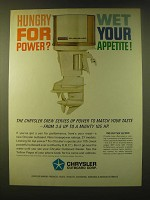 1966 Chrysler 105 Outboard Motor Ad - Hungry for power? Wet your appetite!