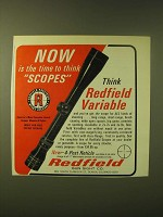 1966 Redfield Variable Scope Ad - Now is the time to think scopes