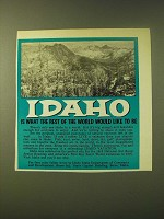 1966 Idaho State Department of Commerce Ad