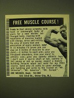 1966 Joe Weider Muscle Building Course Ad - Free Muscle Course