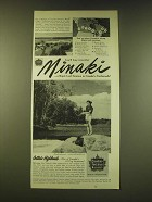 1951 Canadian National Railways Ad - You'll long remember Minaki