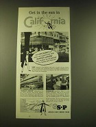 1951 Southern Pacific Railroad Ad - Get in the sun in California