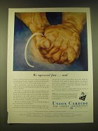 1951 Union Carbide Ad - We squeezed first…