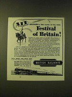 1951 British Railways Ad - The scene of the 1951 Festival of Britain