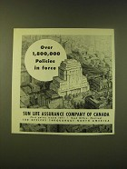 1951 Sun Life Assurance Company of Canada Ad - Over 1,800,000 Policies in Force