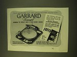 1951 Garrard Triumph Record Changer Ad - Owned and preferred by music critics
