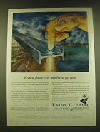 1950 Union Carbide Ad - Hottest flame ever produced by man