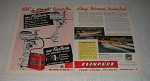 1950 Evinrude Fleetwin and Fastwin Outboard Motors Ad - New by Evinrude